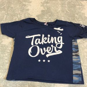 Tops - Penshoppe Navy Graphic Tee